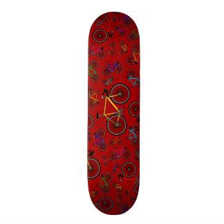 Red road bikes skateboard deck