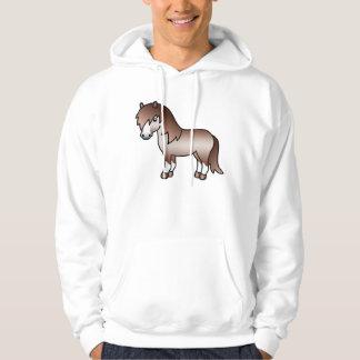 Red Roan Cartoon Shetland Pony Hoodie