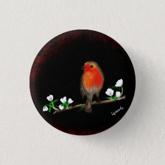 Red Robin badges buttons, original art drawing 1 Inch Round Button