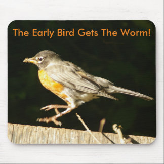 Red Robin Bobbin Mouse Pad