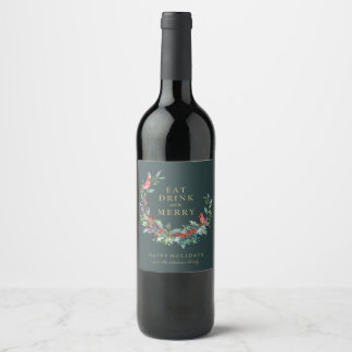 Red Robin Holiday Wreath Wine Label