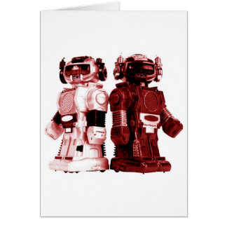 red robots card