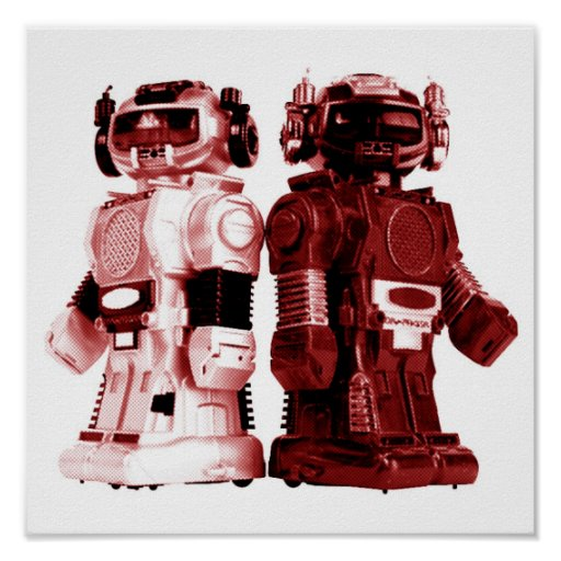 red robots poster