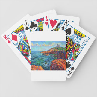 Red rock bicycle playing cards