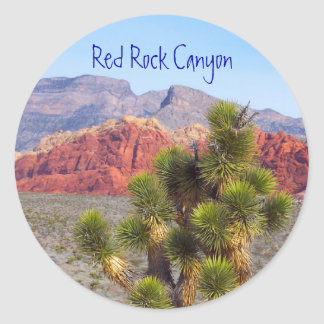 Red Rock Canyon Classic Round Sticker