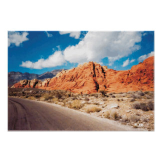 Red Rock Canyon Nevada Vector Graphic Poster