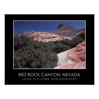 Red Rock Canyon Poster w/ Borders