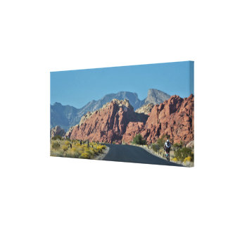 Red Rock Canyon Roadway Canvas Print