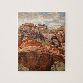 Red Rock Canyon rock formation in Las Vegas Nevada Jigsaw Puzzle