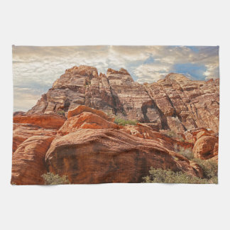 Red Rock Canyon rock formation in Las Vegas Nevada Kitchen Towel