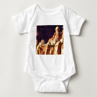 red rock formations in stone baby bodysuit