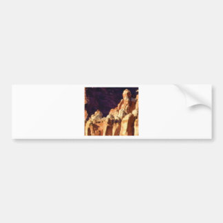 red rock formations in stone bumper sticker
