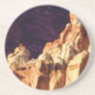 red rock formations in stone coaster