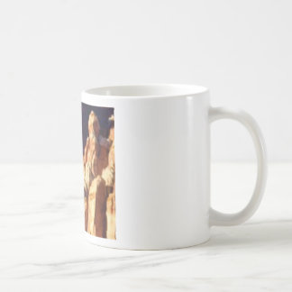 red rock formations in stone coffee mug