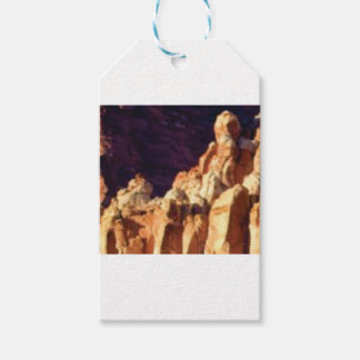 red rock formations in stone gift tags
