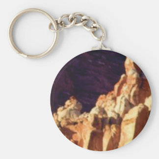 red rock formations in stone keychain