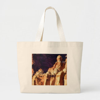 red rock formations in stone large tote bag
