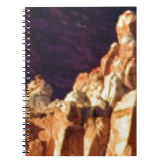red rock formations in stone notebook