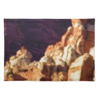 red rock formations in stone placemat
