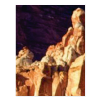 red rock formations in stone postcard