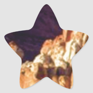 red rock formations in stone star sticker
