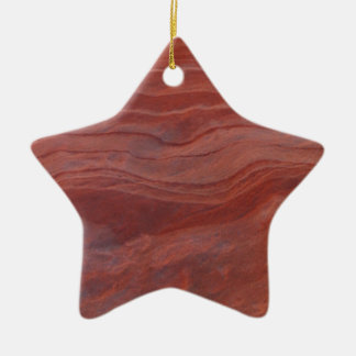 Red Rock Layer Study Ceramic Ornament