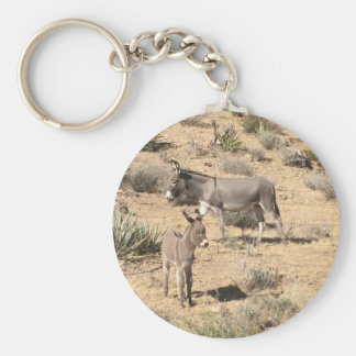 Red rock state park nv donkey basic round button keychain