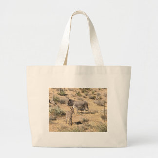 Red rock state park nv donkey large tote bag