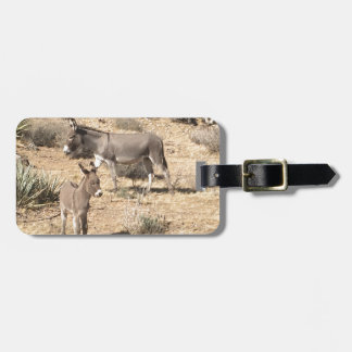 Red rock state park nv donkey luggage tag