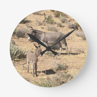 Red rock state park nv donkey wallclock