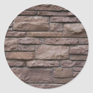 Red Rock Wall Classic Round Sticker