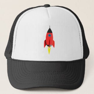 Red Rocket Blast Off Trucker Hat