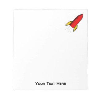 Red Rocket Doodle. Take off! Notepad