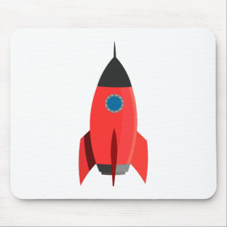 Red Rocket Mouse Pad