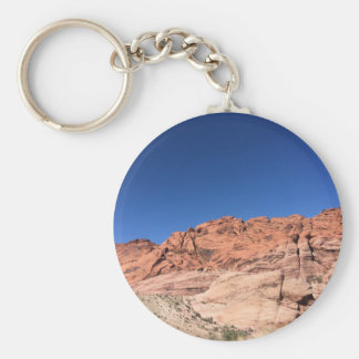Red rocks and blue skies basic round button keychain