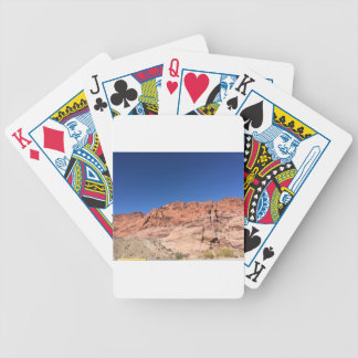 Red rocks and blue skies bicycle playing cards
