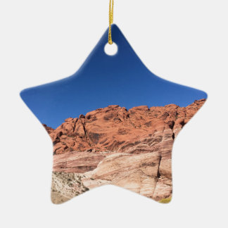 Red rocks and blue skies ceramic ornament