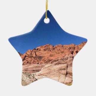 Red rocks and blue skies ceramic star ornament