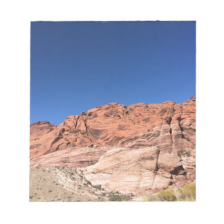 Red rocks and blue skies notepad