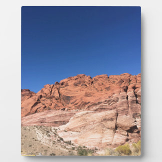 Red rocks and blue skies plaque