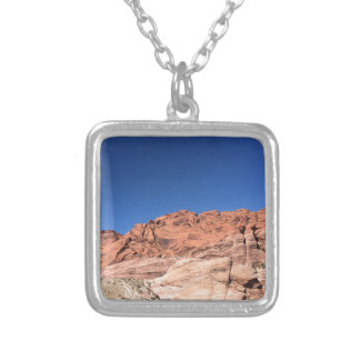 Red rocks and blue skies silver plated necklace
