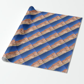 Red rocks and blue skies wrapping paper