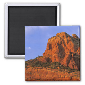 Red Rocks at Sterling Canyon in Sedona Arizona Square Magnet