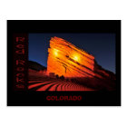 red rocks, COLORADO Postcard