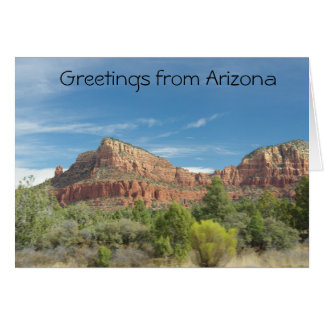 Red rocks in Sedona Card