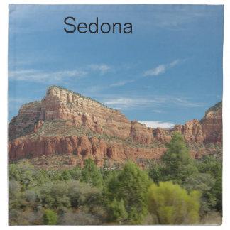 Red rocks in Sedona Printed Napkins