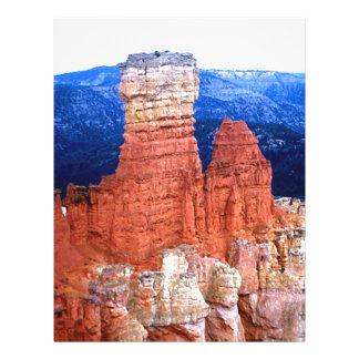 Red rocks letterhead template