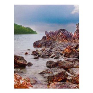 red rocks of fiji letterhead design