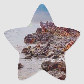 red rocks of fiji star sticker