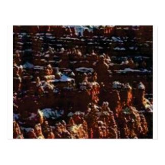 red rocks on the mountain glory postcard